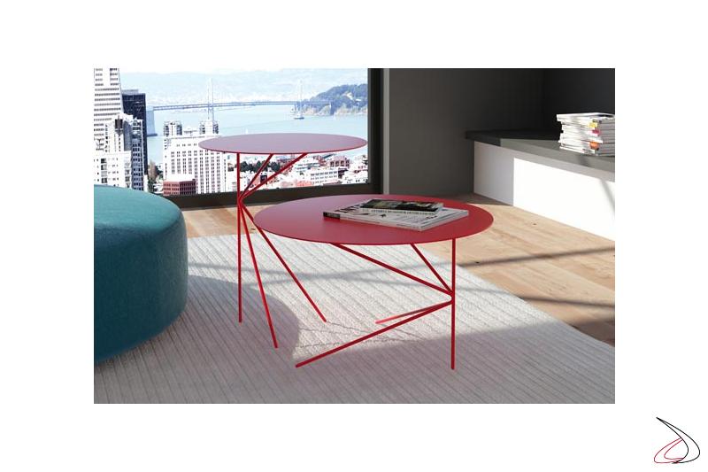 Tavolini design in metallo rotondi