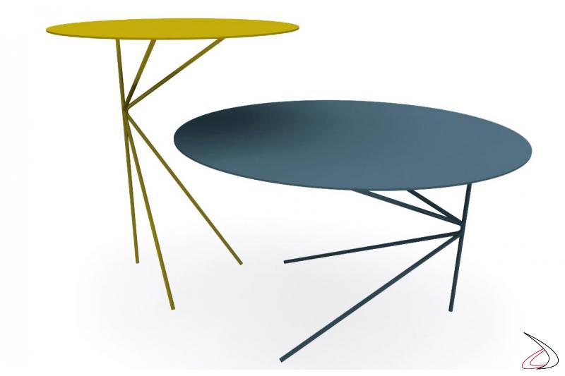 Tavolini moderni da salotto rotondi