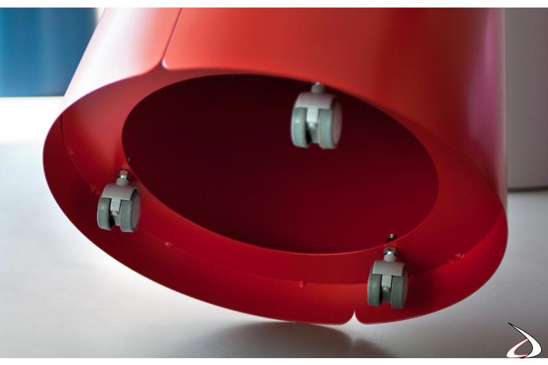 Ruote per tavolino conico di design