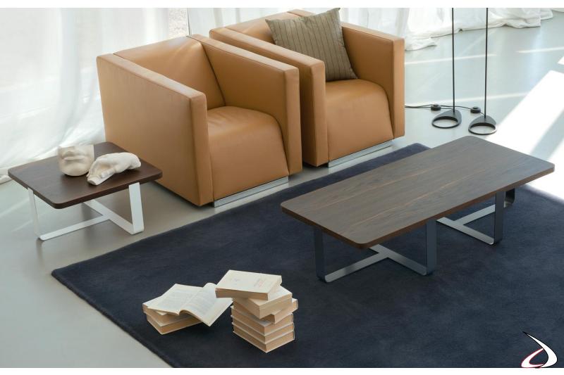 Tavolini moderni da salotto rettangolare e quadrato