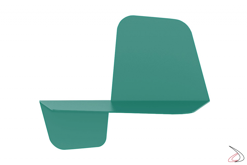 Mensola colorata di design in acciaio