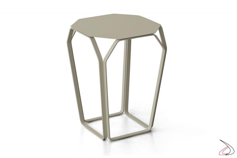 Tavolino alto da fianco divano in acciaio colorato