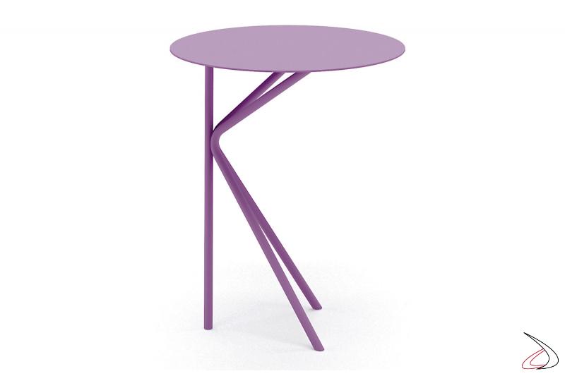 Tavolino alto rotondo di design in metallo