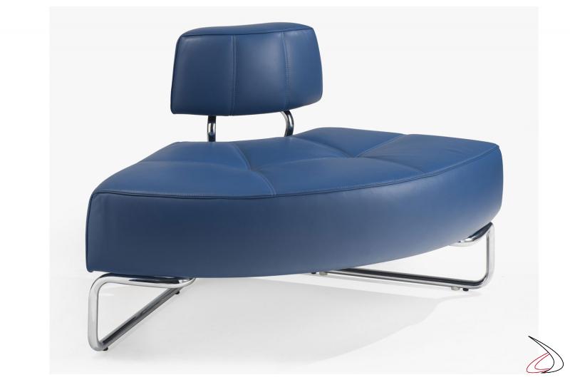 Elemento curvo per divanetto componibile