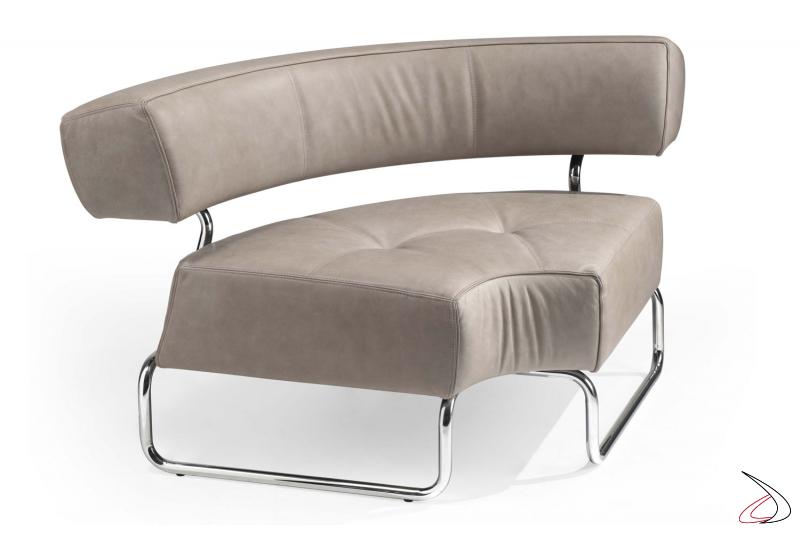 Elemento ad angolo per divanetto componibile