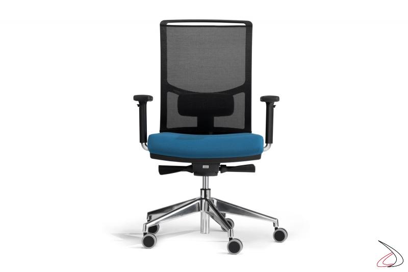 Sedia ufficio girevole regolabile in altezza