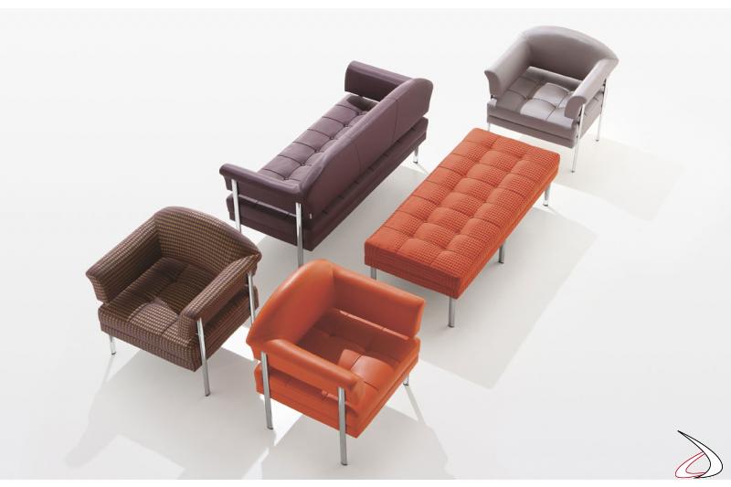 Sedute moderne imbottite per sale d'attesa ufficio
