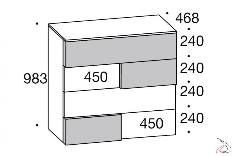vertical storage unit sizes