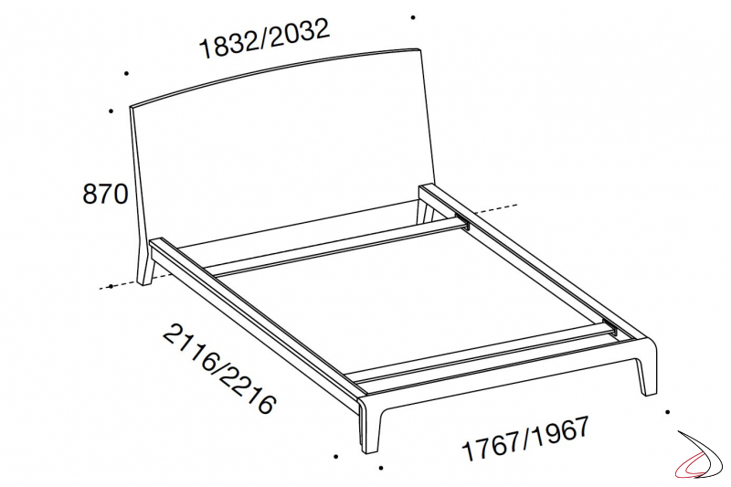 Wooded design bed sizes