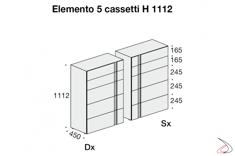 Drawer unit size
