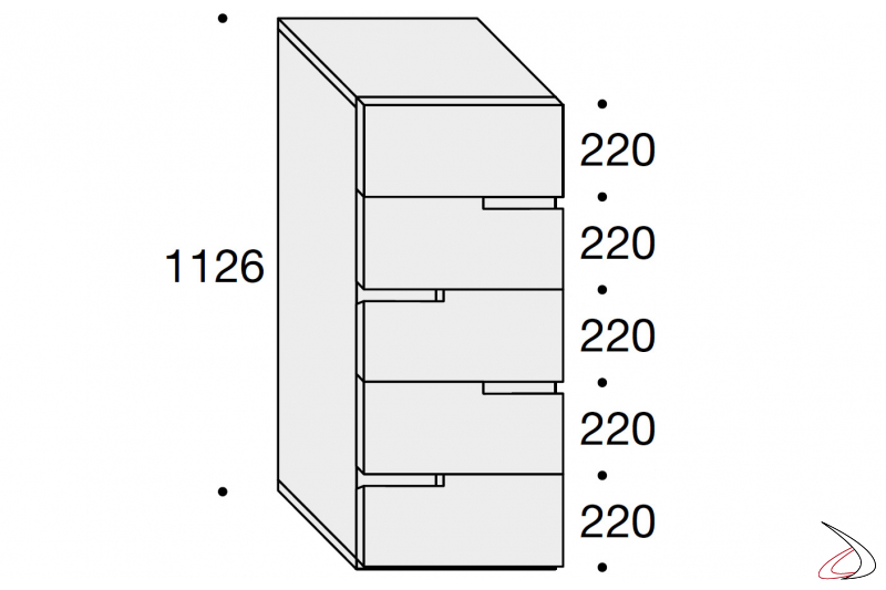 vertical storage unit sizes