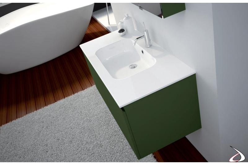 Consolle lavabo in ceramica