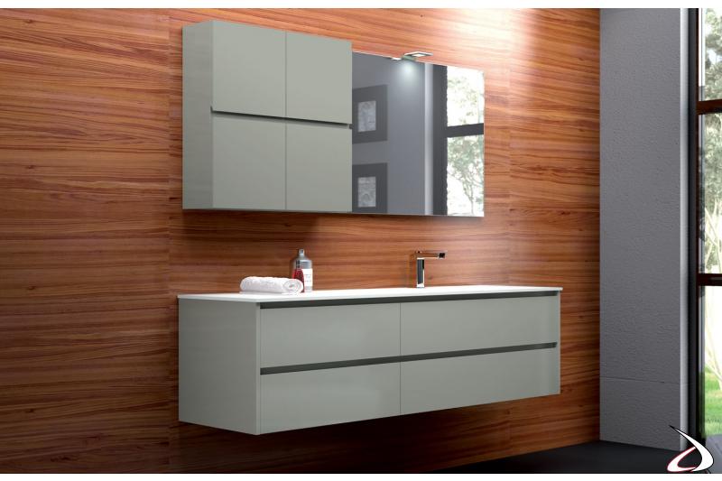 Arredo bagno moderno laccato