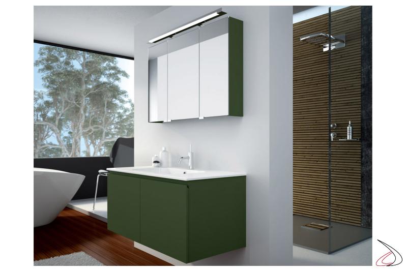 Mobile bagno moderno con specchiera contenitore