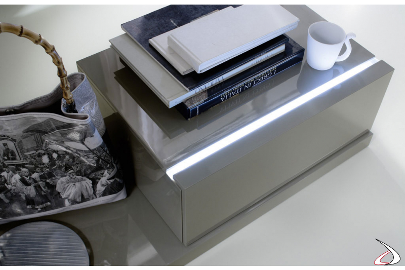 Design nightstand with LED profile