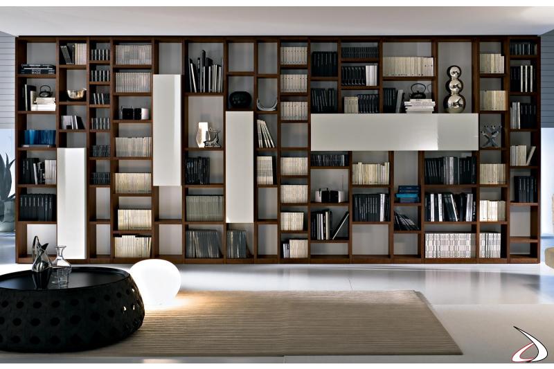 Libreria design in legno da ufficio
