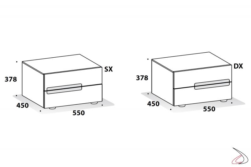 Misure comodino design per camera da letto