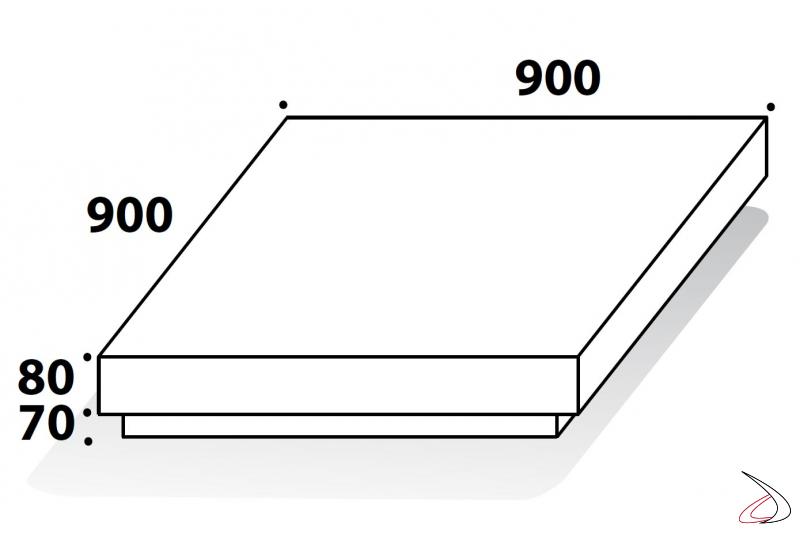 Misure tavolino design basso in legno