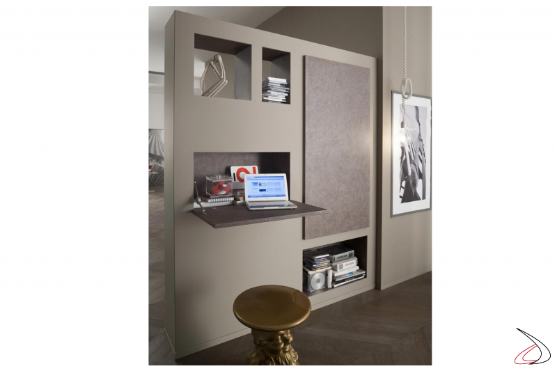 Muretto design da soggiorno componibile bifacciale