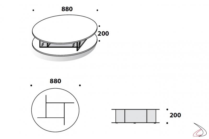 Misure tavolino moderno rotondo basso