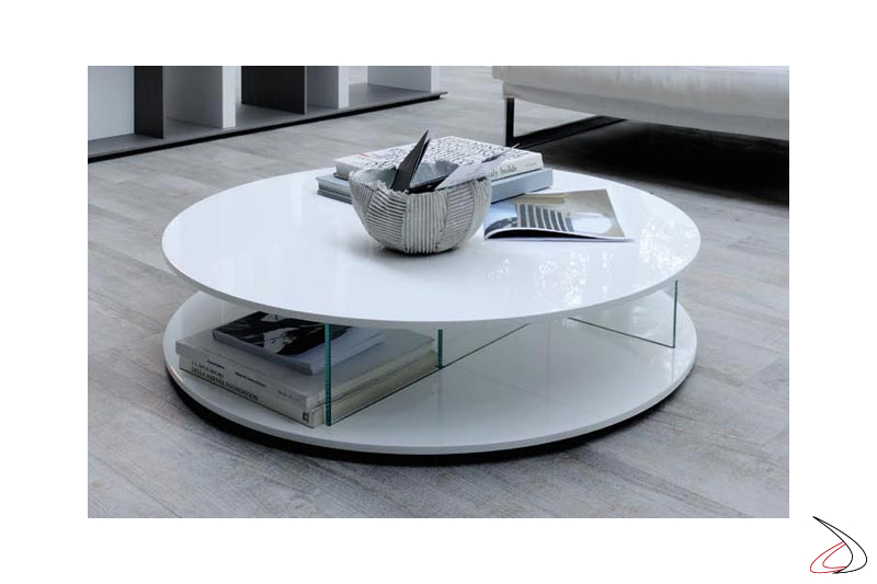 Tavolino rotondo di design da salotto