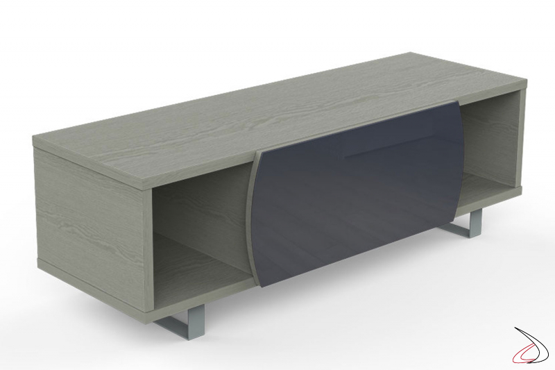 Mobile moderno porta tv 55 pollici con anta in vetro