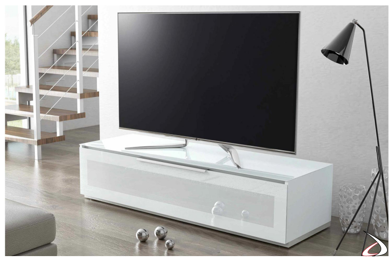 Mobile porta tv moderno con anta ribalta in vetro