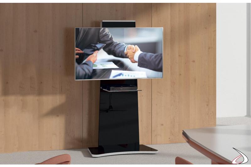 Mobile tv a colonna di design per televisori fino a 77 pollici