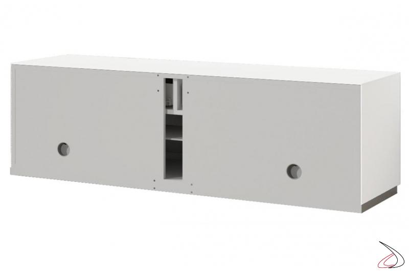 Schienale porta tv con passacavi