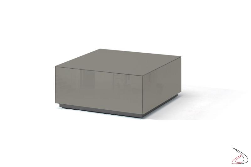 Tavolino moderno grigio lucido con cassetti
