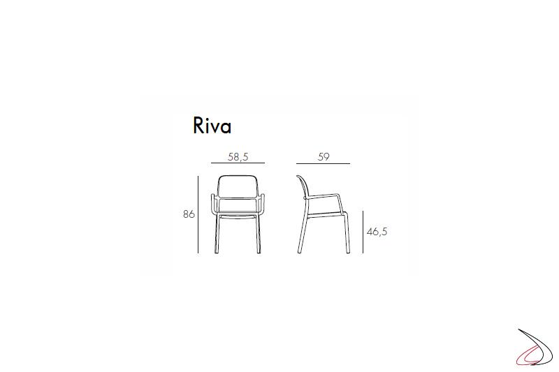 Nardi Garden - sedia con braccioli Riva misure