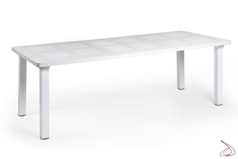 Tavolo moderno bianco allungabile per arredo giardino