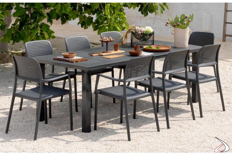 Tavolo allungabile per arredo esterno