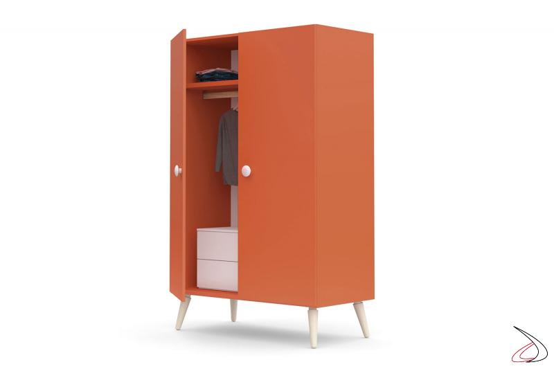 Armadio 2 ante con cassettiera interna per camera ragazzi