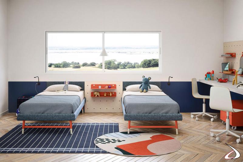 Chambre double avec lits sommiers