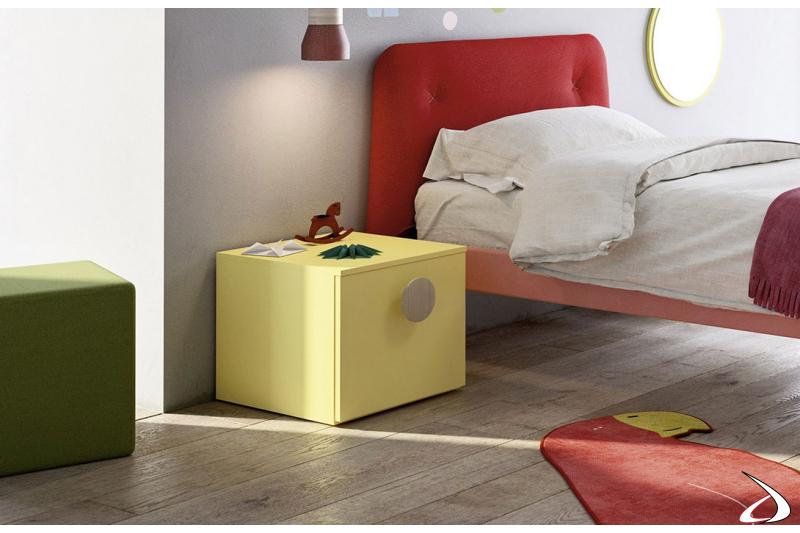 Comodino 1 cassettone moderno per camera ragazzi