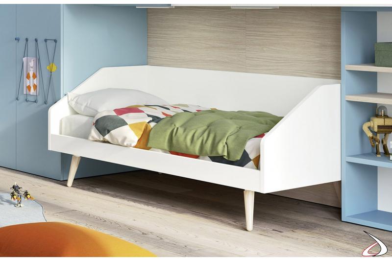 Divano letto singolo moderno per camera ragazzi