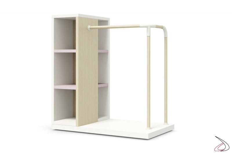 Stender appendiabiti con libreria per camera moderna ragazzi
