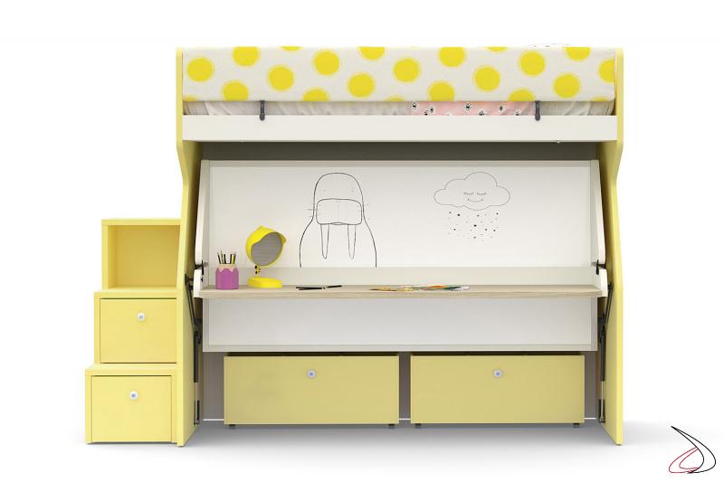 Litera para dormitorio infantil con escritorio