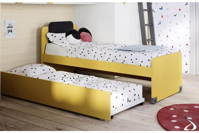 Letto moderno con secondo letto estraibile per cameretta bimbi