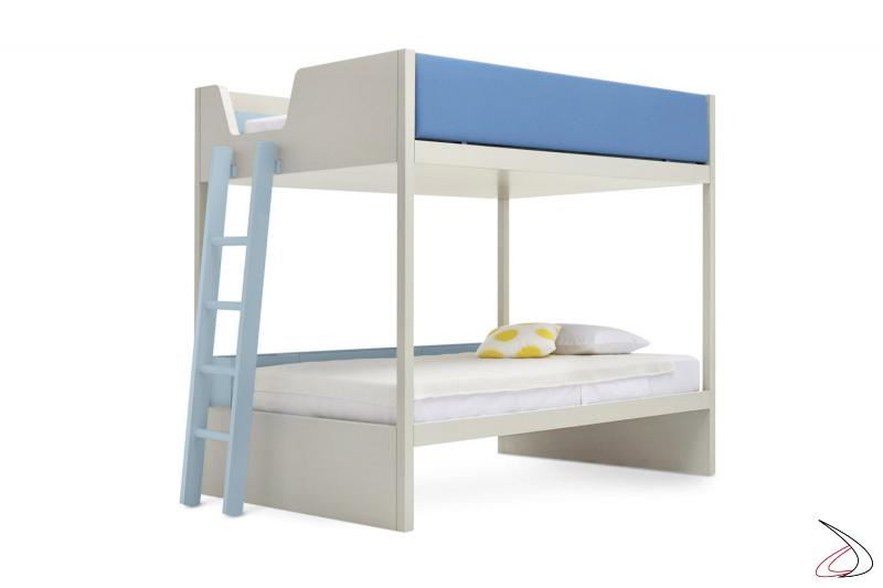 Letto a castello con doppio letto 1 piazza e mezza e scaletta