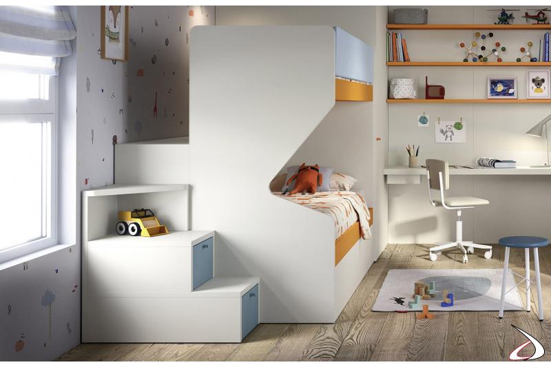 Letti a castello in legno per bambini Gino | TopArredi