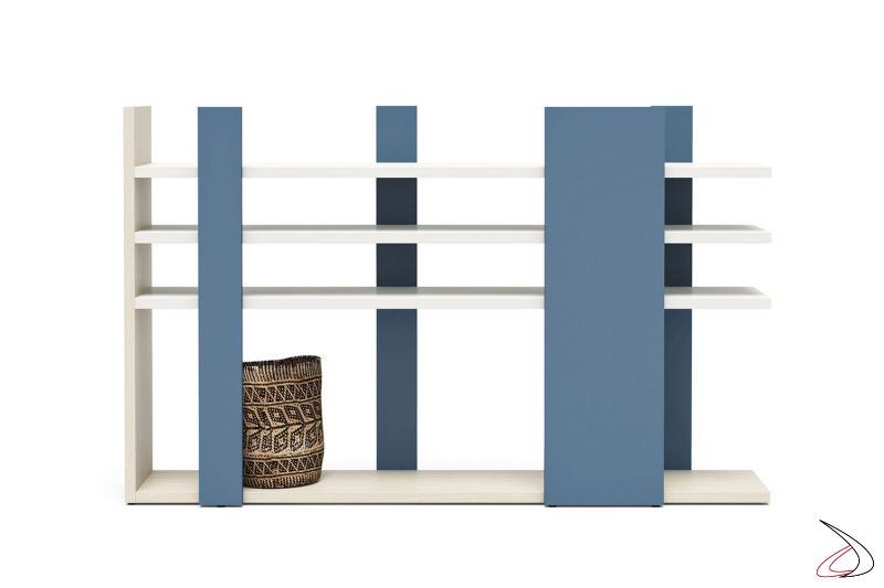 Libreria bassa per cameretta bambini in legno