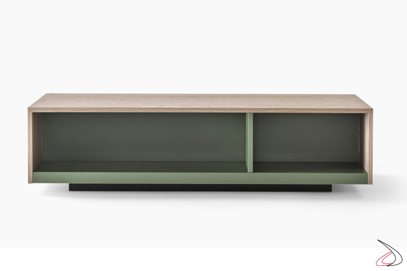 Tavolino basso rettangolare da soggiorno con vani a giorno