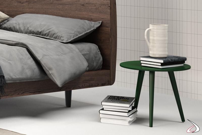 Tavolino rotondo uso comodino per camera da letto