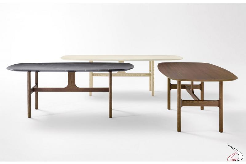 Tavolo design anni 50 in legno per sala da pranzo soggiorno