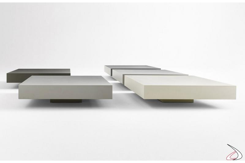 Tavolino da soggiorno basso moderno quadrato