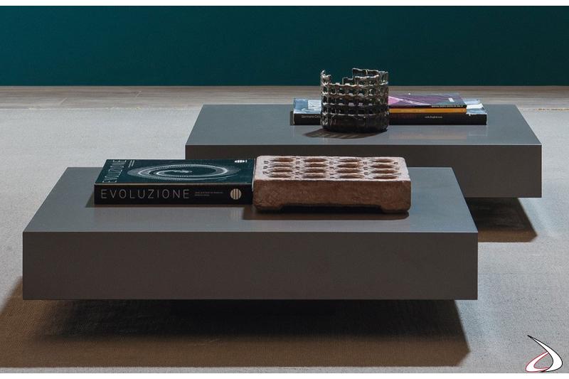 Tavolino quadrato moderno basso da salotto