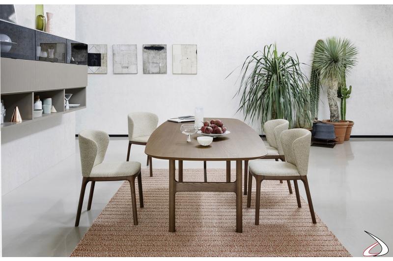 Tavolo anni 50 in legno da soggiorno