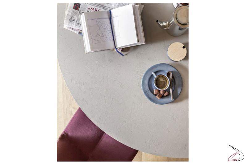 Tavolo rotondo moderno con piano in ecomalta